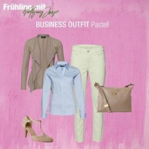 Business Outfit Pastelltöne