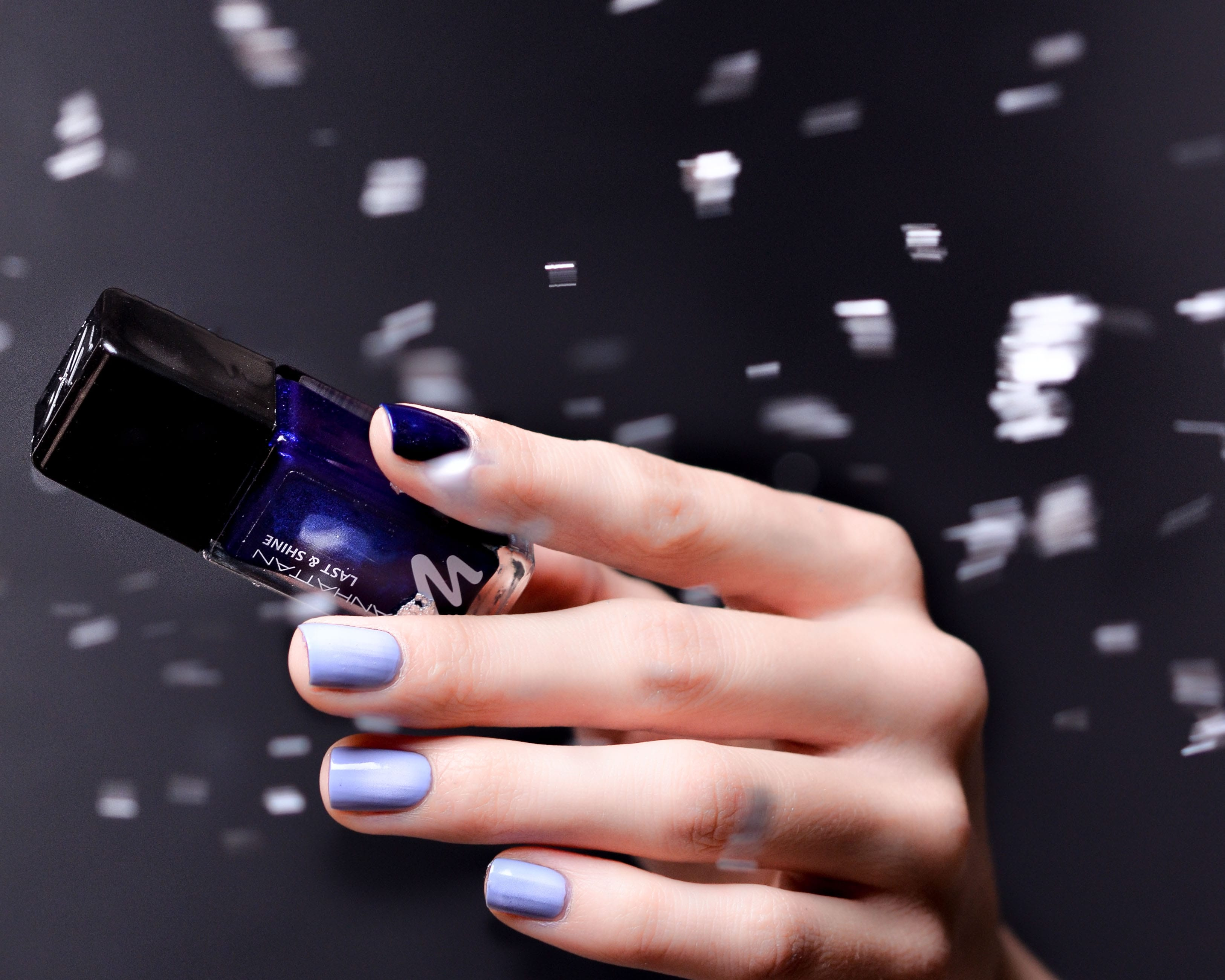 Manhattan Midnight Kiss + Essie Saltwater Happy
