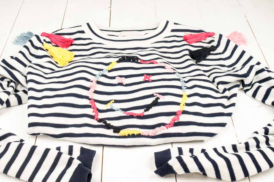Upcycling bestickter Pullover