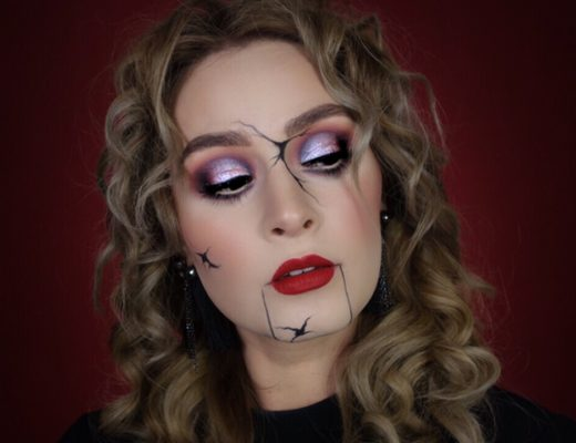 Tutorial zum Broken-Doll-Halloween-Make-up
